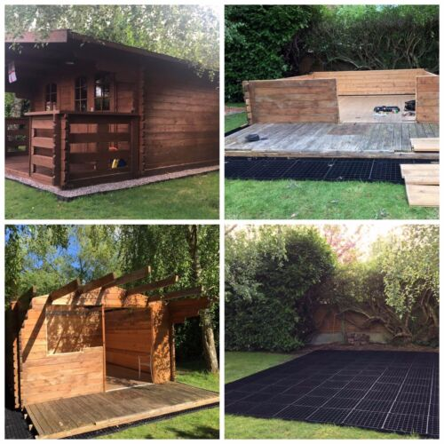 ALL SIZES Greenhouse Log Cabin Paddock Stable Barn Field Shelter Base 8ft x 7ft