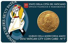 Vatikan offiz. Coincard - Coin Card 2016 Nr. 7 mit 50 Cent Papst Franziskus