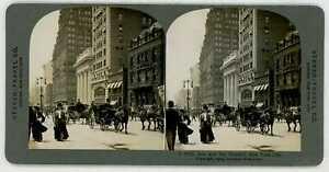 New-York-City-FIFTH-AVE-amp-THE-WALDORF-Stereoview-stus7