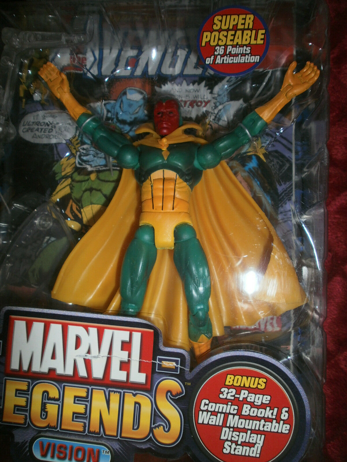 MARVEL LEGENDS  SERIES 7  VISION ACTION FIGURE WITH 32 PAGE COMIC