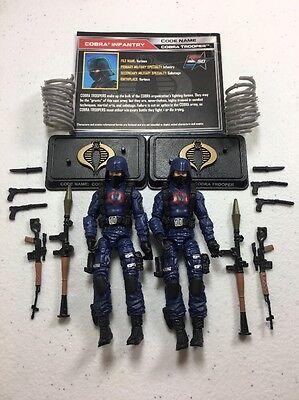 GI Joe Cobra 50th Anniversary Figure Lot TRU Cobra Trooper x2 Army Builder