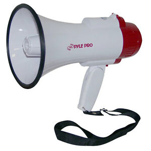 New Pyle PMP35R Professional Megaphone / Bullhorn w/ Siren & Voice Recorder