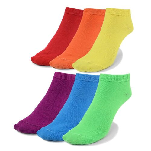 6pk Solid No Show Socks for Women