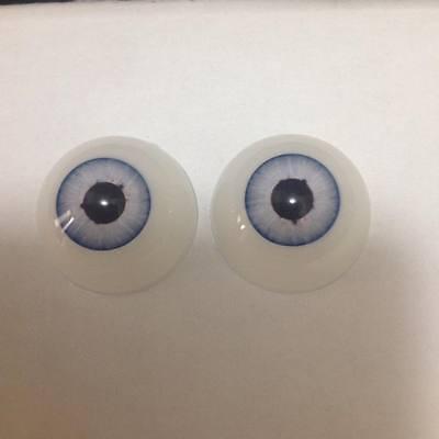 22 mm Pabol CA01 New Blue Reborn Doll Eyes Acrylic half round FAST SHIPPING!!!