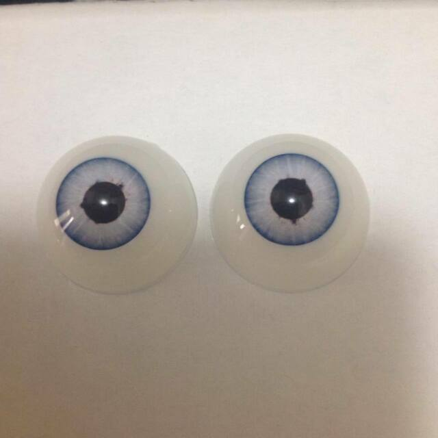 18mm  Pabol Blueberry Doll Eyes  Half Round  Acrylic /& FAST SHIPPING!