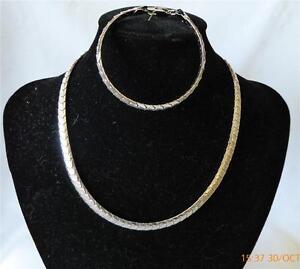 Rhodium-color-Cool-Fashion-Boys-Men-Girls-Necklace-Bracelet-Set-N-40cm-B-19cm