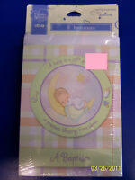 Rare Precious Baby Moments Shower Vintage Pastel Party Invitations - Baptism