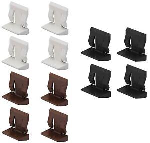 4x taquet étagère blanc marron tablette verre meuble support plastique fixation