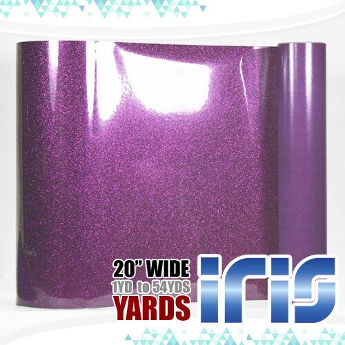 "25 /& 54Yards FREE SHIPPING 3 5 IRIS Heat Transfer Vinyl Glitter 20/"" x 12/"" 1"