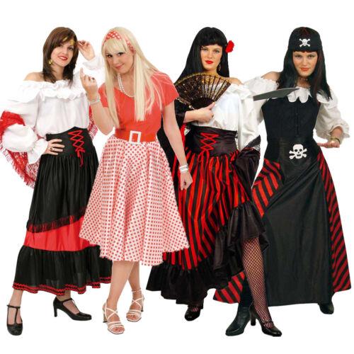 Rock Damen Kostüm Fries Piratin Zigeunerin Karnevalskostüm Fasching Gr 36-48 neu
