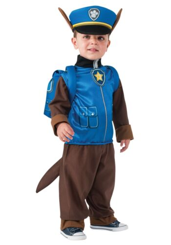 Boys Chase Paw Patrol Cartoon Police Dog Fancy Dress Costume Kids Child Outfit
