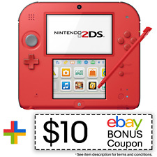 Nintendo 2DS (Crimson Red 2) - REFURBISHED BY NINTENDO - Warranty Included