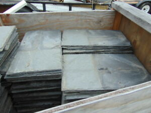 ANTIQUE-VINTAGE-ROOF-SLATE-SHINGLES-GRAY-LARGE-10-034-X-18-034-LOT-OF-744