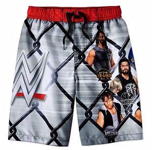 WWE JOHN CENA REIGNS UPF50 Bathing Suit Swim Trunks Boys Sz 4//5 6//7 8 10//12 $25