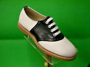 Classic School Leather Saddle Shoes Black/white US Women's sizes 5-12 (#200)