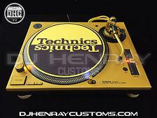2 custom Semi Gloss Gold & black Technics SL 1200 mk5's gold leds powder coated