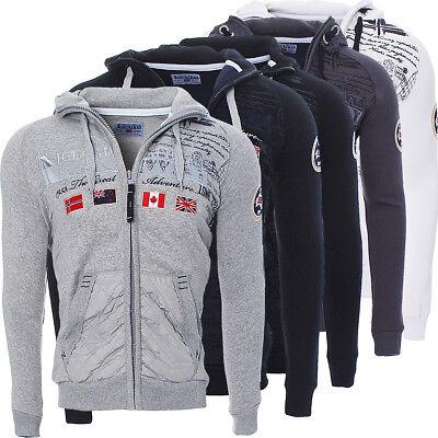 GüNstiger Verkauf Geographical Norway Herren Golfstream Winter Sweat Jacke Pullover Polo Hoodie ✔