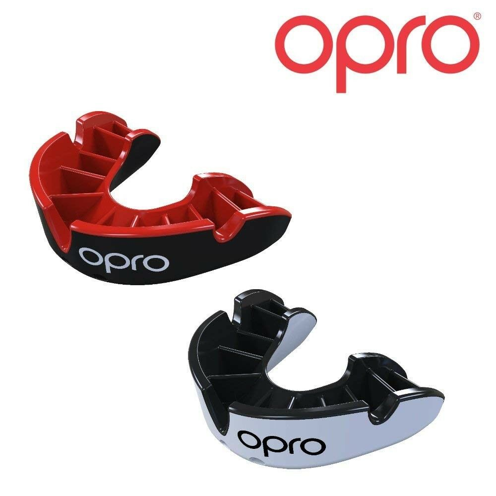 Opro Plata Plata Plata Protector Bucal Paquete Doble Adulto Niño Boxeo Rugy Hockey Mma 093d02