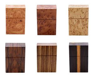 Design Zigarettenetui Zigarettenbox Holz Leder Handarbeit Vintage Zigarette Etui