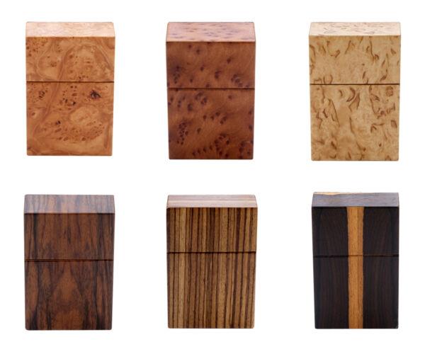 Design Zigarettenetui Zigarettenbox Holz Leder Handarbeit Vintage Zigarette Etui Moderater Preis