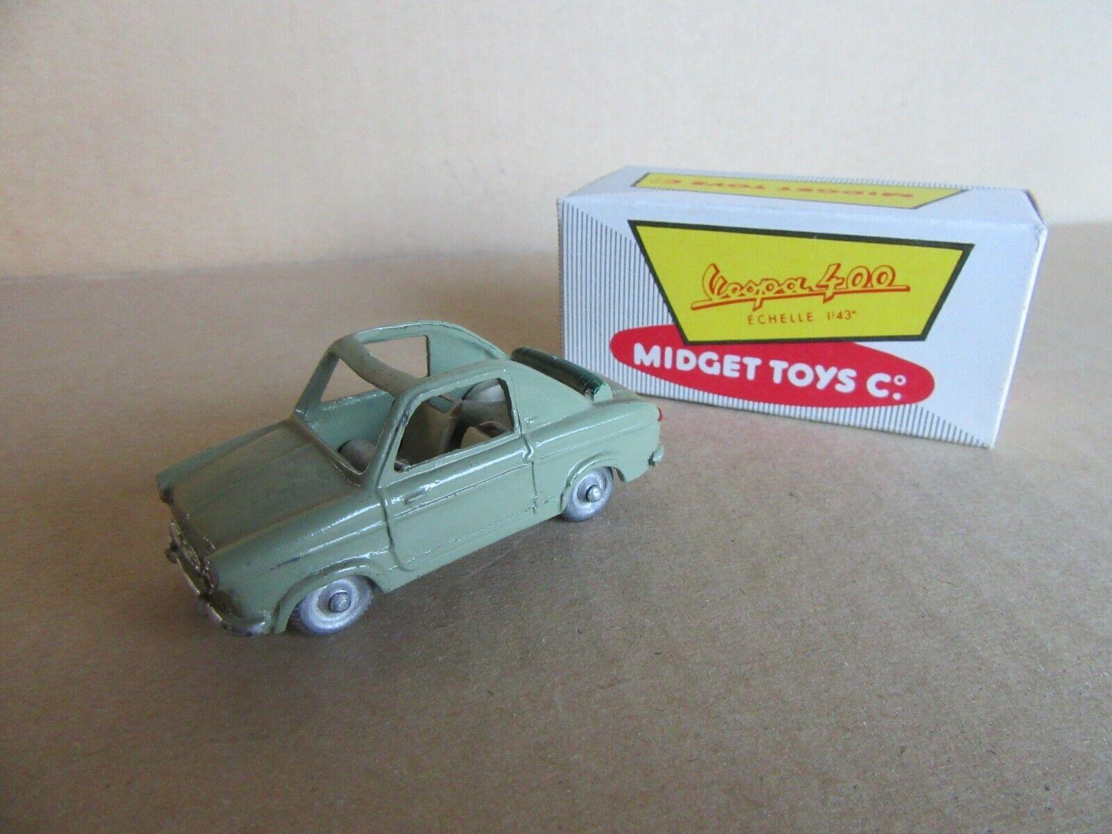632I Midget Toys Vespa 400 Série B Model 12 verde 1 43