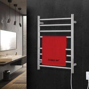 Image Is Loading Hardwired Towel Warmer 8 Bars Brush Nickel Heated