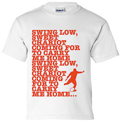 Swing Low Anthem Kids T Shirt 6 Nations World Cup England Wales SIX RUGBY