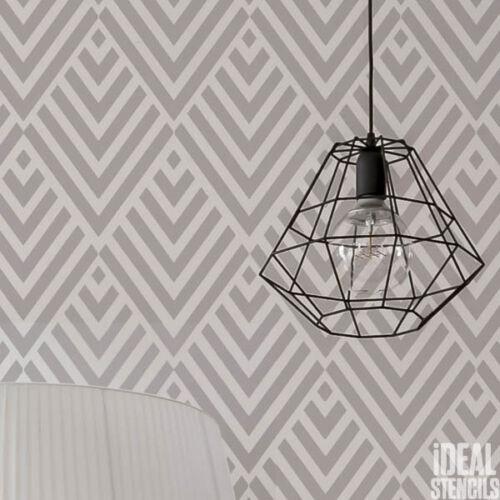 Vintage Pattern Art Deco Decorative STENCIL Diamond Painting Walls Fabrics Etc