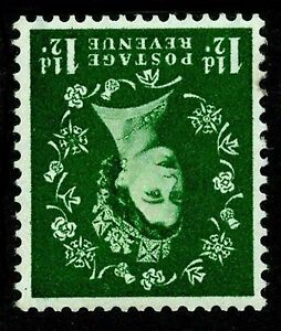 Sg589Wi, 1½d green, UNMOUNTED MINT. WMK INVERTED. Cat £75.