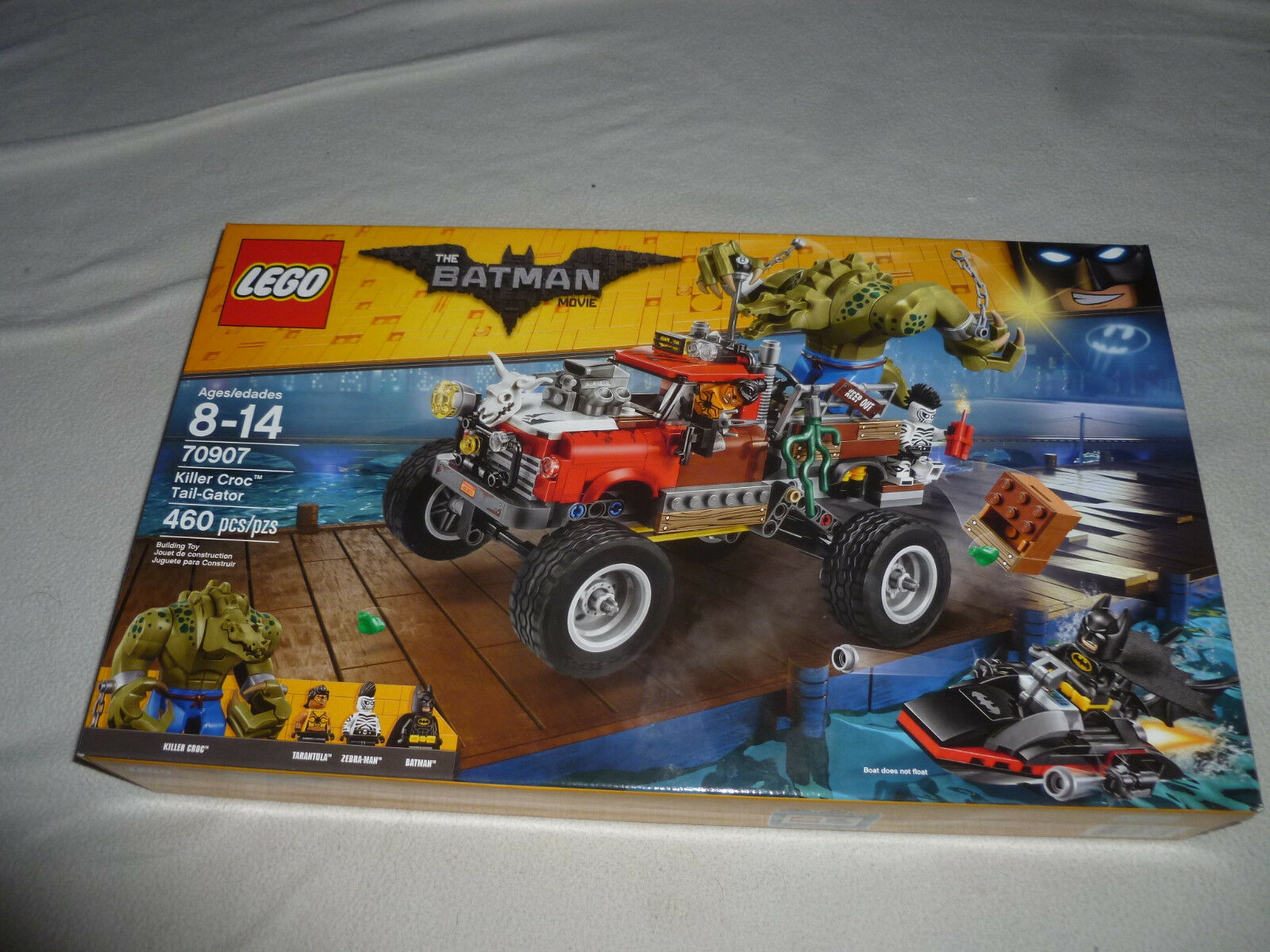 NEW LEGO SET KILLER CROC TAIL-GATOR 70907 THE BATMAN MOVIE 460 PCS TARANTULA NIB