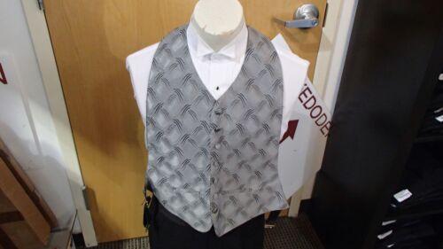 "Silver Men/'s Formal Vest /""Versailles/"" by Brandon Michael"
