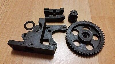 Greg Wade Reloaded Extruder 3D Printer Plastic J-Head PLA 1.75 3mm RepRap Silver