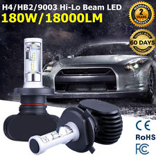Philips 2x H4 180W 18000LM LED Headlight Hi-Lo Beam Car Light Bulbs 9003 HB2 Kit