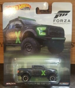2019 Hot Wheels /'17 Ford F-150 Raptor Forza Motorsport Real Riders 1:64 Scale