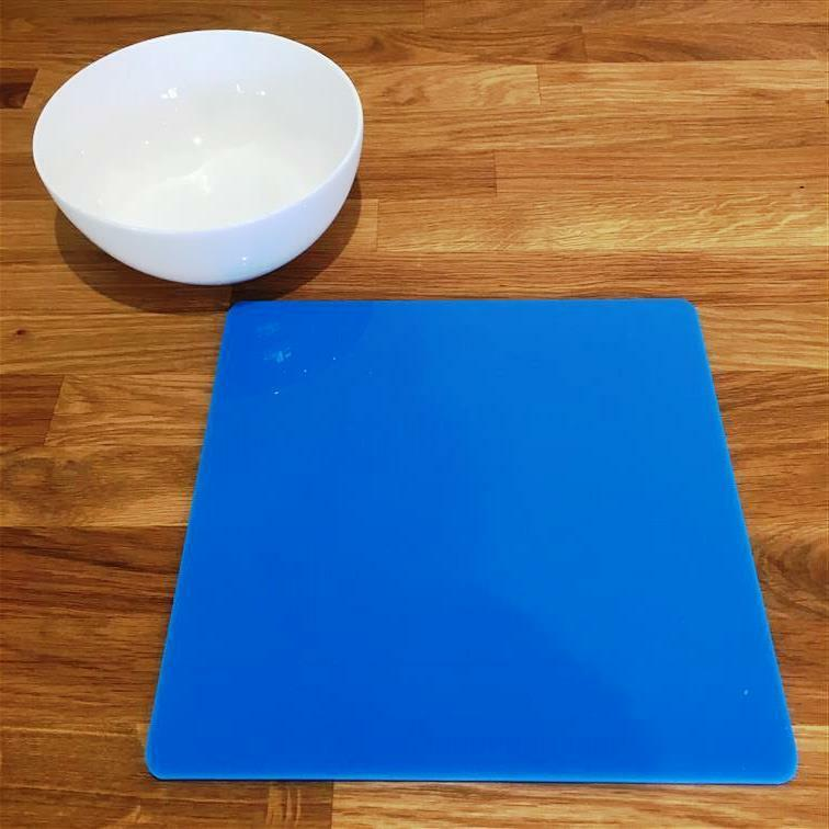 Square Shaped Bright Blau Gloss Acrylic Placemats, Sets 4 6 8, Größe 9  or 12