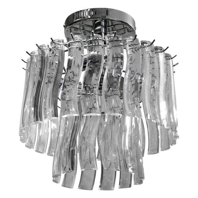 Catania Acrylic Pendant Chrome Ceiling Light Lighting Shade Chandelier Fitting