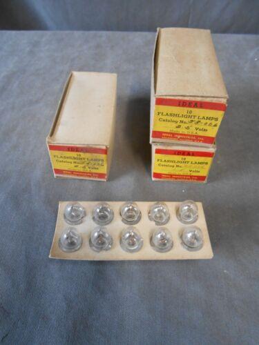 """Lot de/"""" 30/"""" new in box VINTAGE Idéale 53-006 Miniature Lampe de poche lampes ampoules 2.5 Volts"""