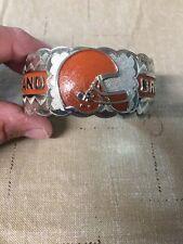 Native American Navajo Mens Bracelet Cleveland Browns Cuff Amazing Workmanship 2