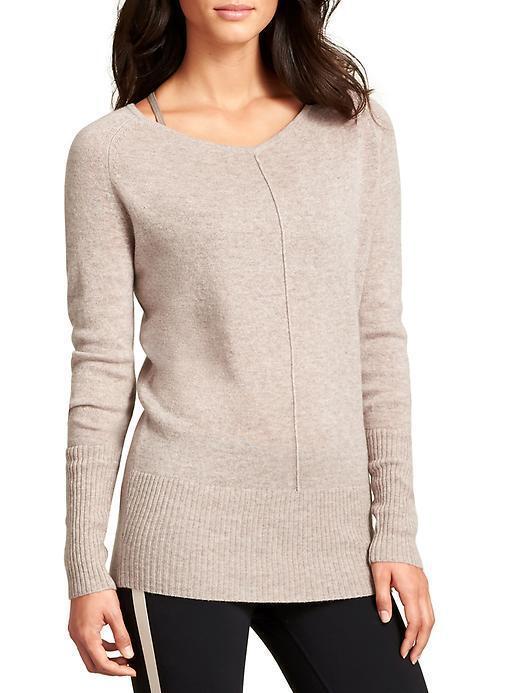 ATHLETA Cashmere Adi Mudra Sweater, NWD, Medium, Foxtail Foxtail Foxtail Taupe, MSRP  178 213157