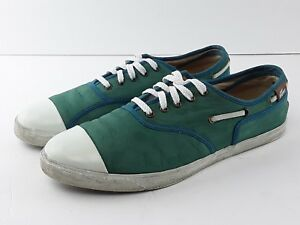 49bb503c308fd0 LACOSTE RENE NAUTICAL MEN S TURQUOISE LEATHER TRAINERS BOAT SHOE US ...