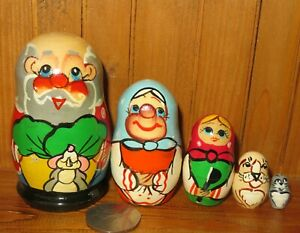 Matryoshka-Russian-nesting-dolls-SLIGHT-SECONDS-SMALL-5-Fairy-Tale-Giant-Turnip