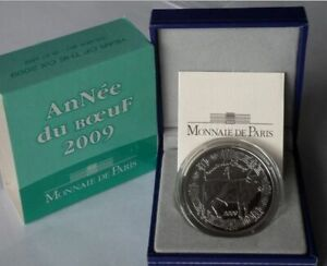 FRANCE-YEAR-OF-THE-OX-fables-de-La-Fontaine-SILVER-5-EUROS-2009