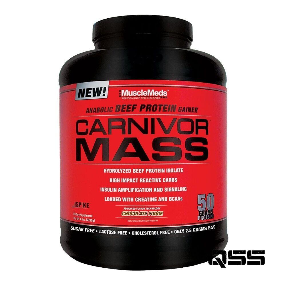 Musclemeds Carnivor Mass 2.5kg & 4.5kg Anabólico Projoeína De Carne Weight Gainer