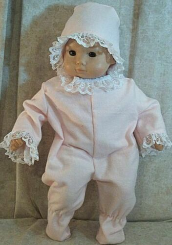 """Doll Clothes Baby Made 2 Fit American Girl 15/"""" in Bitty Pajamas Bonnet Pink NEW"""
