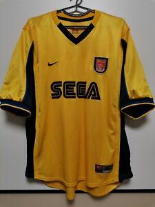 SIZE XL ARSENAL 1999-2001 AWAY FOOTBALL SHIRT JERSEY NIKE SEGA