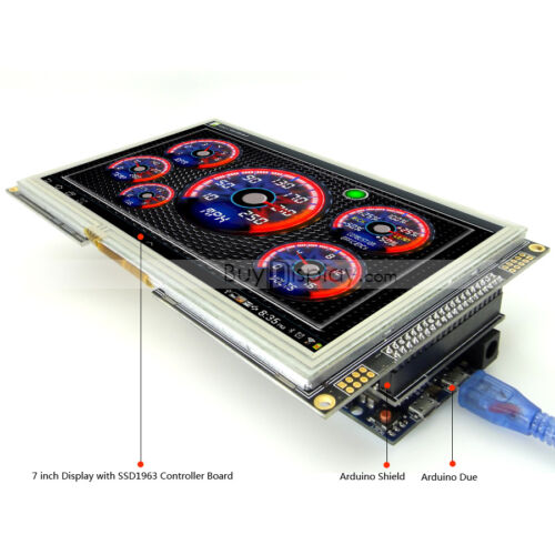 """7/"""" inch TFT LCD Resistive Touch SSD1963 Shield for Arduino Due,MEGA 2560 Library"""