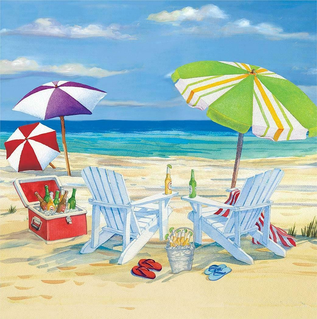 Breezy Beach Beverage Napkins Relax Drinks Beach Picnic Summer Party Decorations