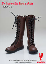 HIGH HEELS BROWN SHOES female BOOTS women 1/6 scale Action Figure dolls toys