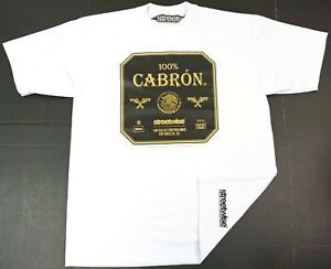 STREETWISE-100-CABRON-T-shirt-Urban-Streetwear-Tee-Men-L-4XL-White-New