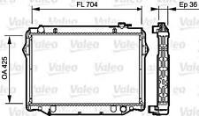 VALEO Engine Cooling Radiator Fits TOYOTA Land Cruiser 4.2L Diesel 1990-1998
